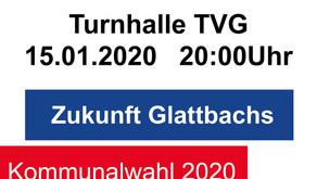 Infoveranstaltung am 15. Januar 2020 in der Turnhalle TVG