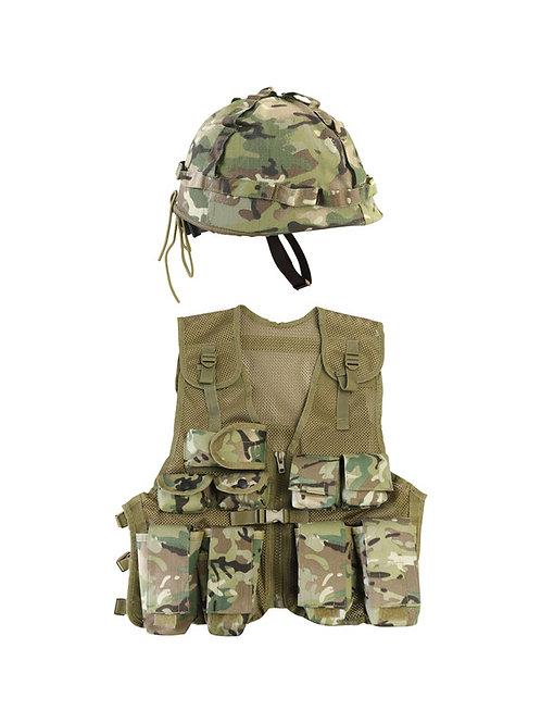 .Kids Assault Vest & Helmet Set