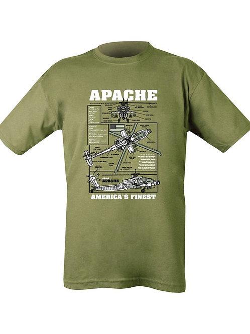 Apache Printed T Shirt Olive green.