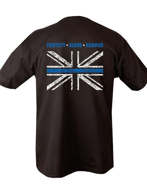 Thin Blue Line Printed T Shirt