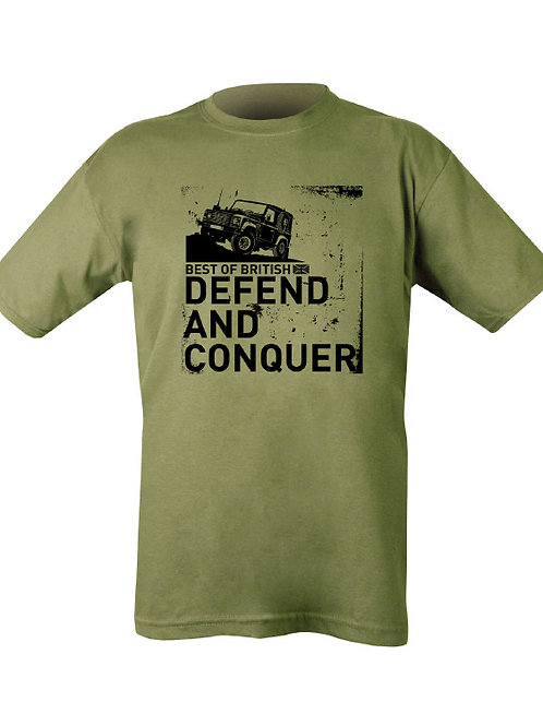 Defend And Conquer Printed T Shirt.