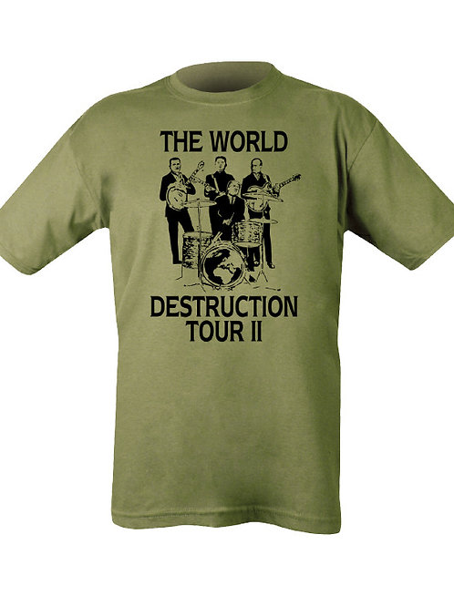 World Destruction Tour printed T Shirt