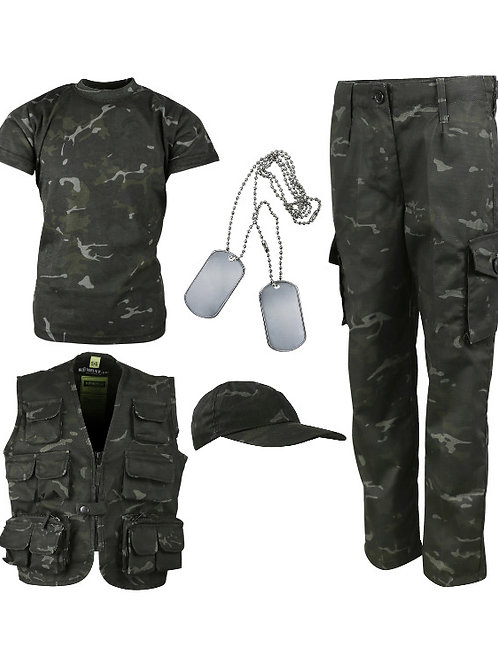 Kids Camouflage Explorer Army Kit - BTP Black