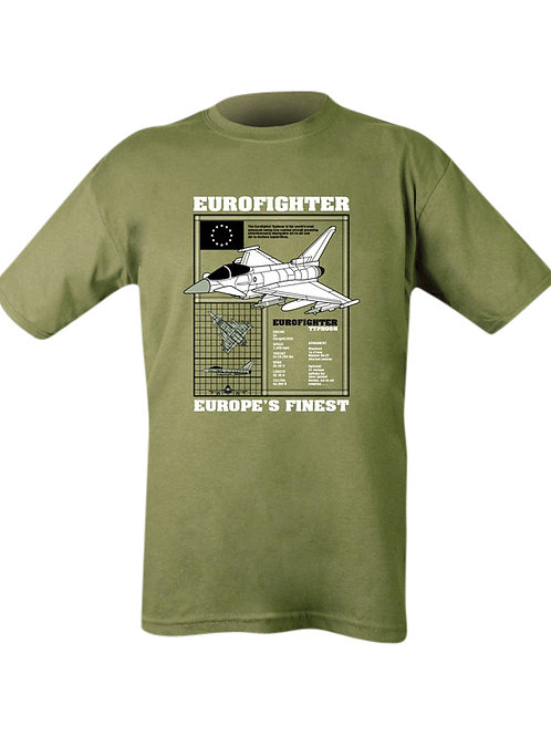 Eurofighter Printed t shirt Olive green.