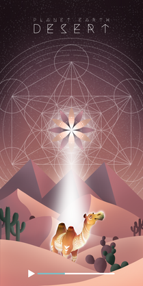 Meditation Scene (Desert)