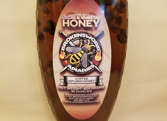 Coffee Infused Honey- 16oz.