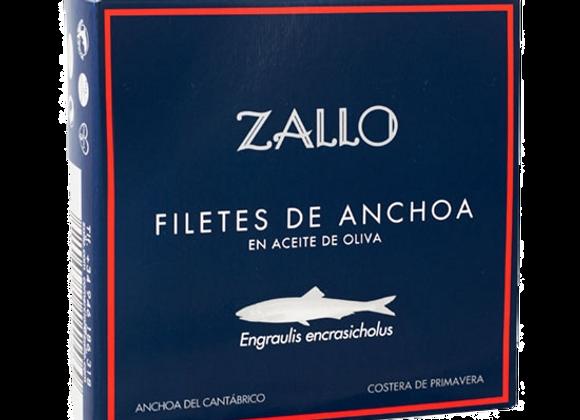 Filets d'anchois de Cantabrie à l'huile d'olive 500GR Zallo