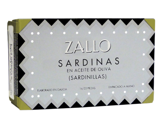 Petites sardines à l'huile d'olive 115grZallo