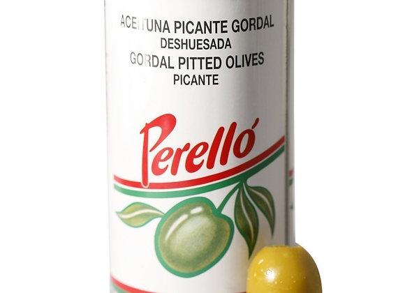 Azeitonas Gordal sem caroço picantes
