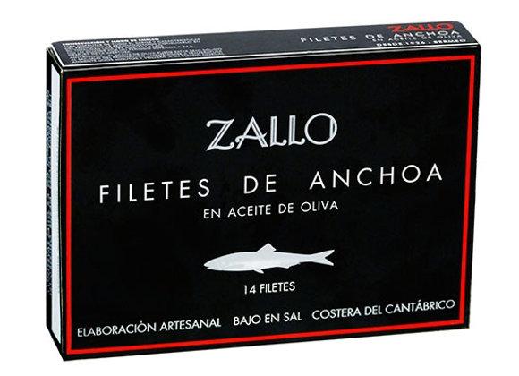 Filetes de anchova da Cantábria em azeite 85GR Zallo