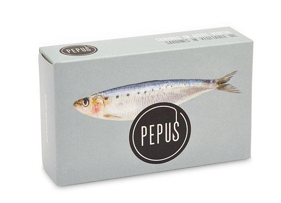 Petites sardines à l'huile 115gr Pepus