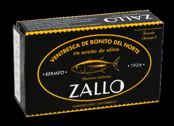 Ventrèche de thon blanc germon à l'huile d'olive 110gr zallo