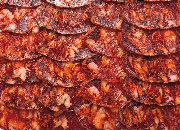 Chorizo Ibérique Bellota tranché
