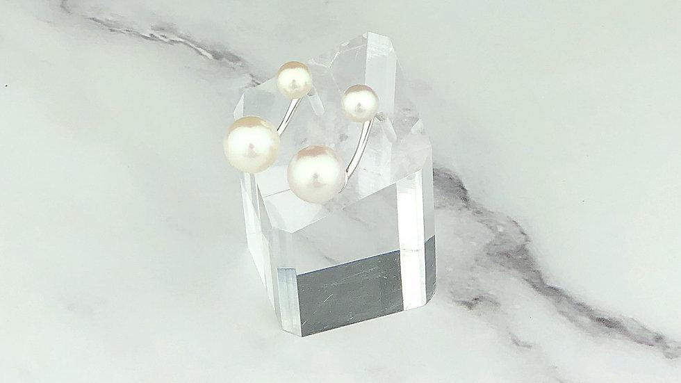 925 Silver 2-way Freshwater Pearl Earrings
