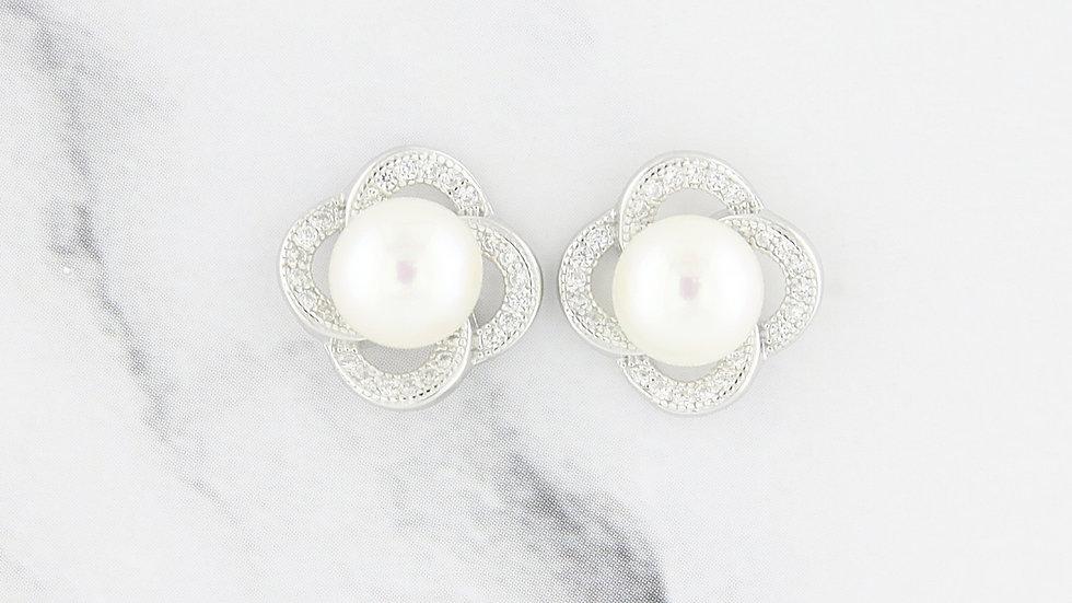 Freshwater Pearl Earrings in Sterling Silver