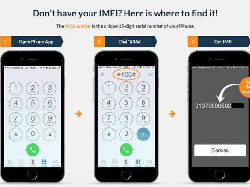 Viktigt att spara din mobiltelefons IEMI nummer!