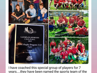 NDG Dragons u13: Bourough team of the year for the 4th time in 5 years!