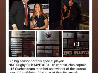 Club Captain Brenna Rudland: Borough athlete of the year!