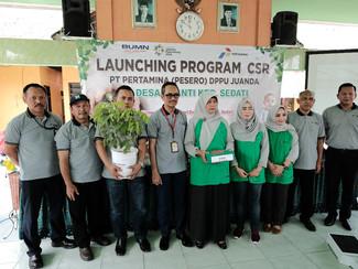 Pertamina Launching Program CSR  di Lingkungan Kecamatan Sedati, Sidoarjo