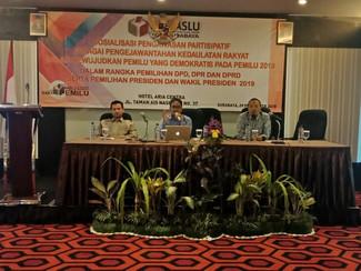 Bawaslu Surabaya Libatkan Masyarakat Awasi Pileg dan Pilpres 2019