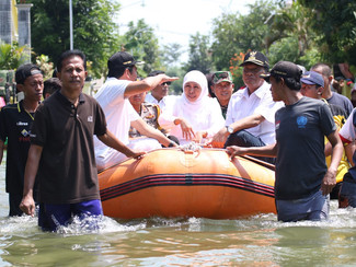Atasi banjir di beberapa wilayah Jatim, Gubernur akan lakukan beberapa langkah antisipasi banjir