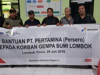 Pertamina peduli korban gempa di Lombok Timur