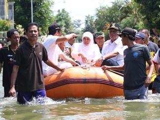 Gubernur akan normalisasi sungai 10 KM dikawasan banjir Gresik