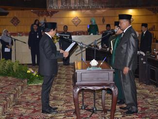 H. Abdul Rahman S.H resmi gantikan almarhum Cak Ulum sebagai anggota DPRD Jatim