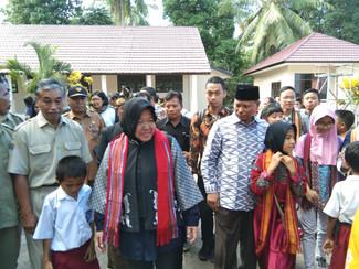 Sekolah tahan gempa dari warga Surabaya pasca gempa Lombok diresmikan