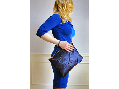 PLEATED PATCHWORK CLUTCH