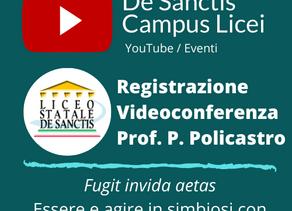 Videoregistrazione della conferenza prof. Policastro
