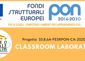 "PON ""Classroom Laboratory"" approvato"