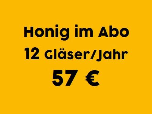 Honig-Abo: 12 Gläser / 1 Jahr