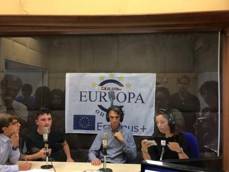 La prima trasmissione live di Europa on air