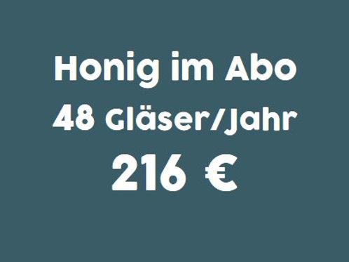 Honig-Abo: 48 Gläser / 1 Jahr