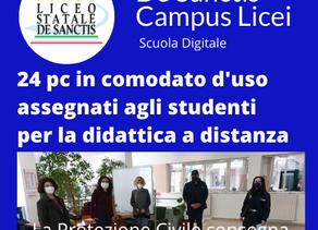 24 pc agli studenti per la Didattica a distanza