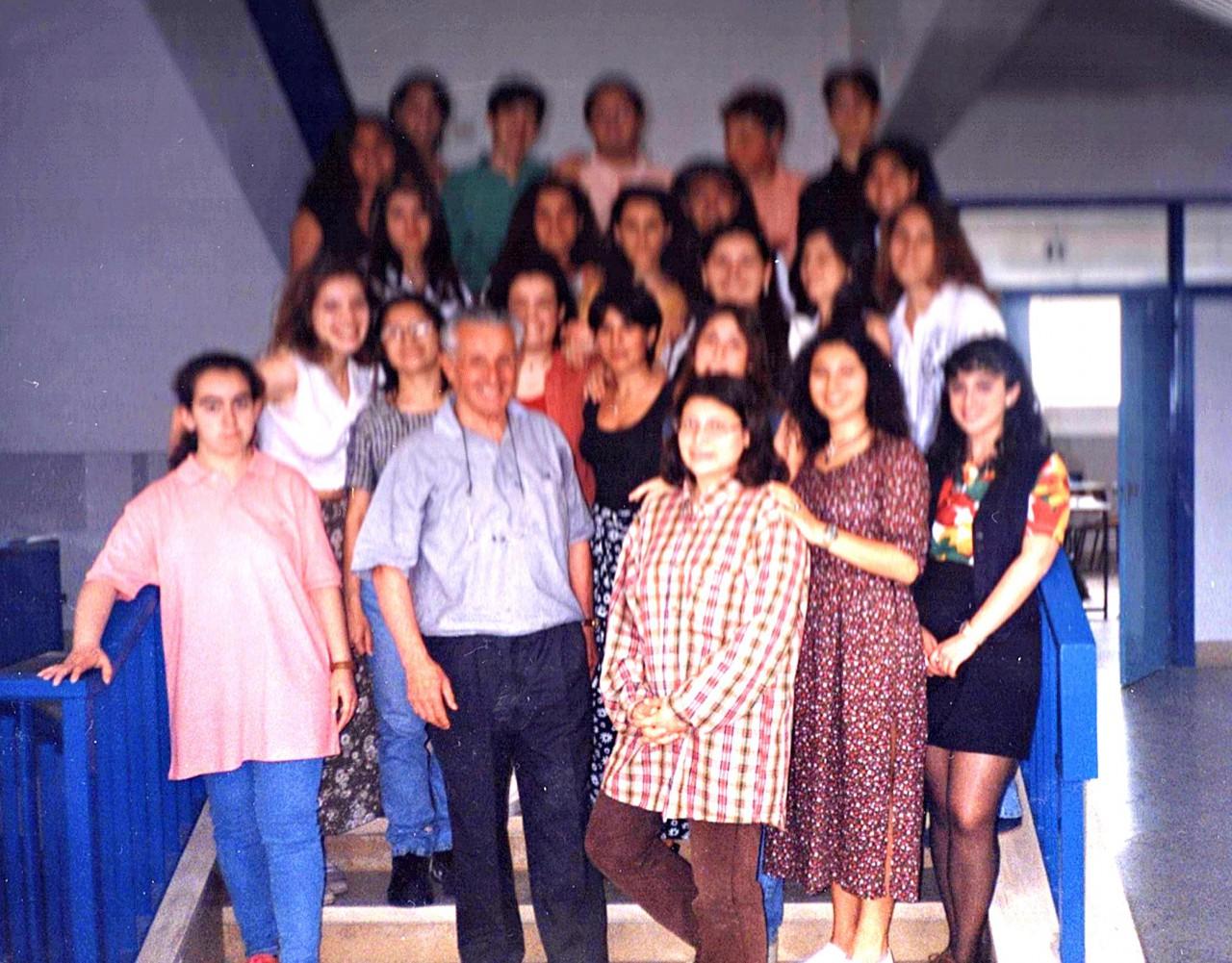 Prof. Giorgio Smaldone con alunni