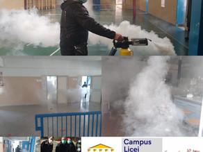 Pratiche anti-Covid: sanificazione degli ambienti scolastici