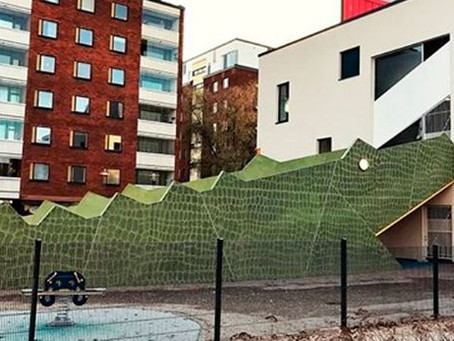 Is this the coolest kindergarten ever? The magnificent structure catches the eye in Vantaa
