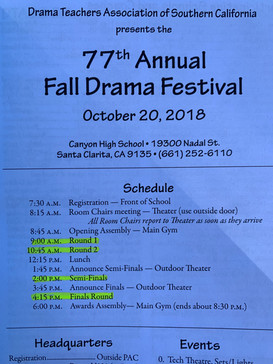 77th DTASC Fall Drama Festival