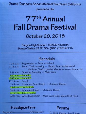 77th DTASC Fall Drama Festival