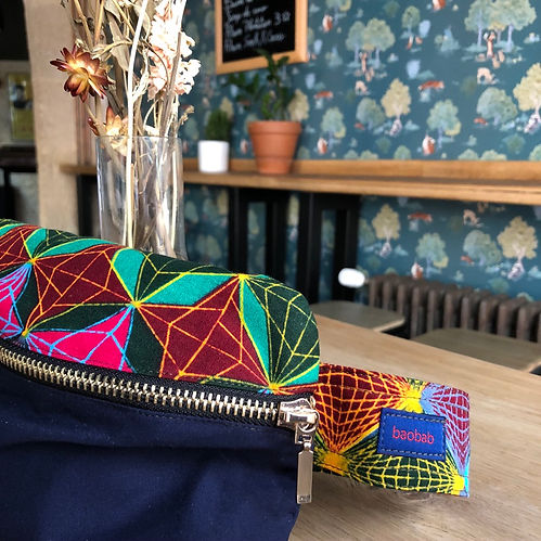 The Big One - handmade belt bags from Paris, in african wax fabric