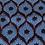 Belt bag extra flat, blue, dark blue, red, belt wax fabric, for forró or salsa dance, manufactured in Paris