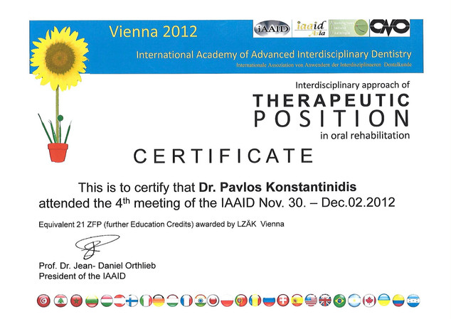 Therapeutic Position in oral rehabilitation.2016