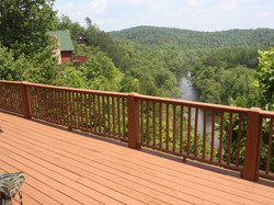 Large Deck over looking the River