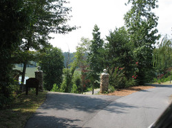 Driveway Entry into the Cabin