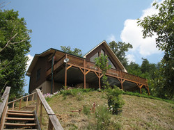 Back of the chalet -  looking up