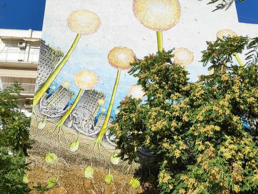 אמנות רחוב בגינה קהילתית באתונה