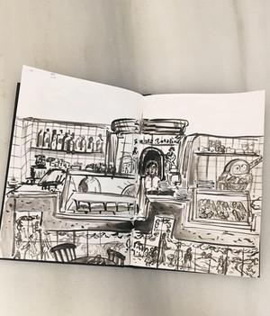 Sketch at a Snack Bar