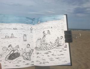 Sketch on a Beach